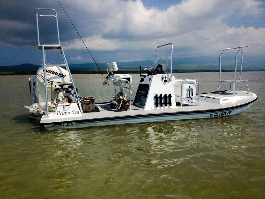 New Addition To The Hallelujah Hou Fishings Fleet Its A Prima Sea Flats Boat Made Specifically For Flyfishing