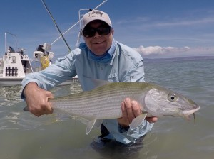 Garry Elgear caught a hefty Bonefish