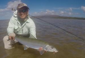 Kiichiro Okamoto from Yokohama Japan, connected on five nice fish today